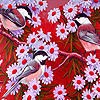 Spring flowers and sparrows puzzle